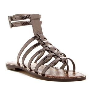 Sam Edelman Metallic Snakeskin Gladiator Sandal